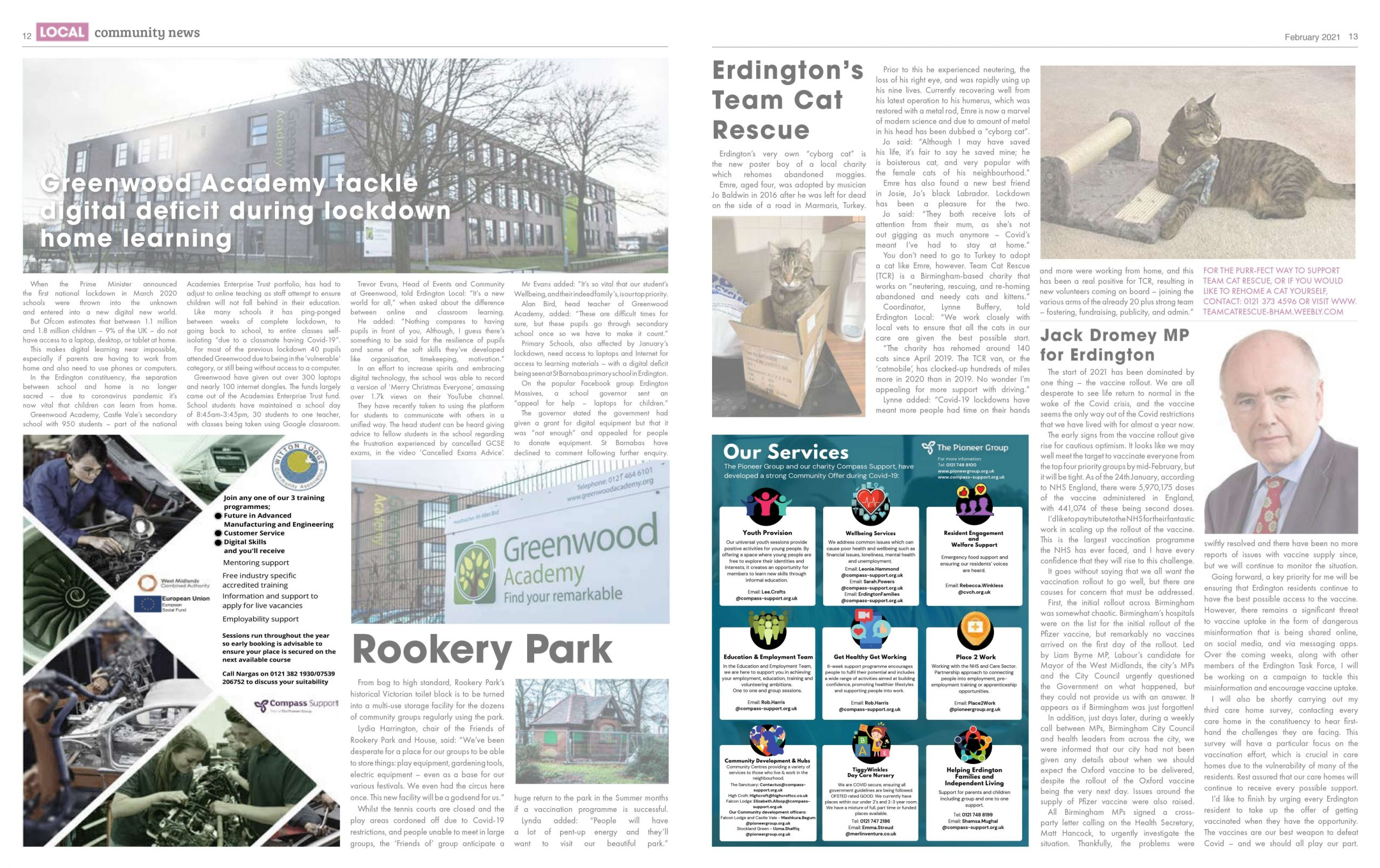 Erdington Local - Feb '21 (p12, p13 - quarter page adverts) FADED_compressed_page-0001